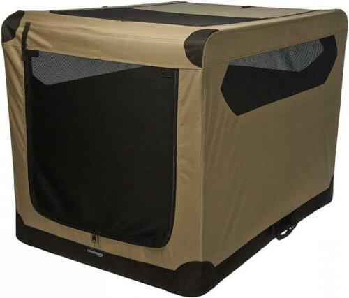 folding soft dog crate for crate trained