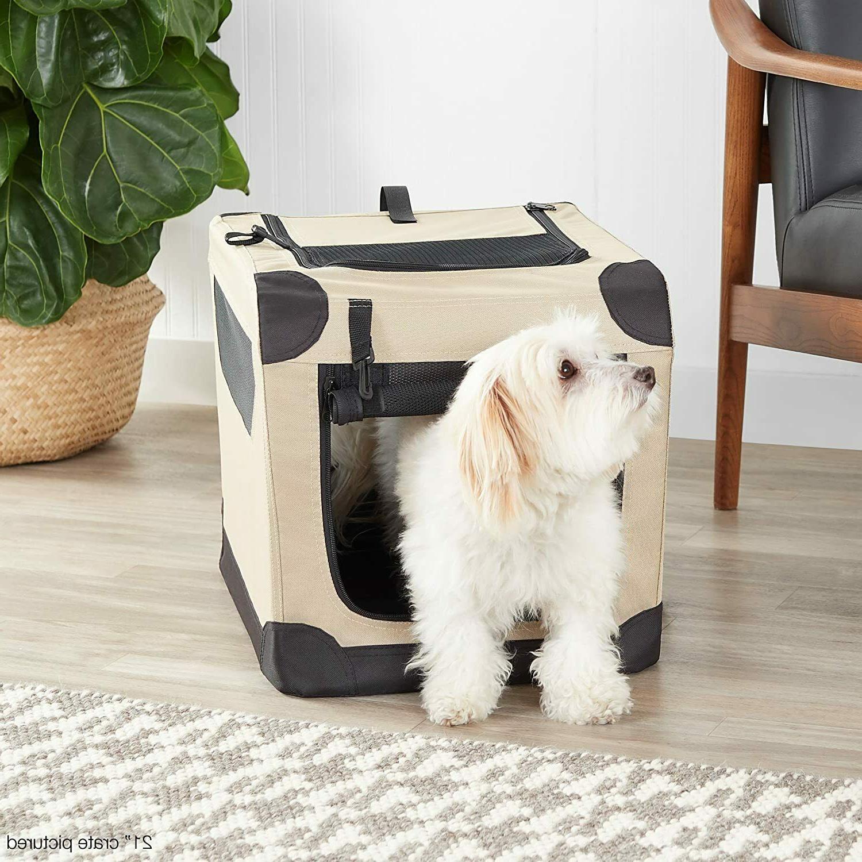 Amazonbasics Soft Dog Crate, Portable, 26x18x18