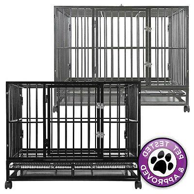 heavy duty metal dog crate cage indoor