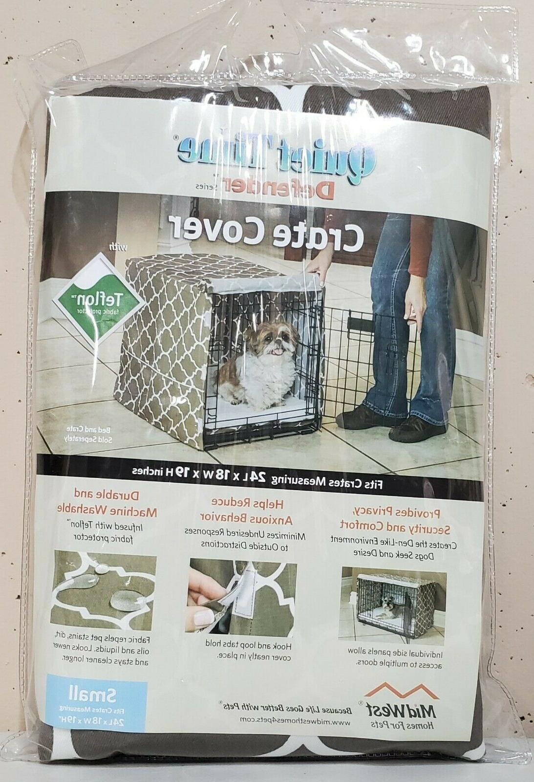 homes for pets dog crate cover brown