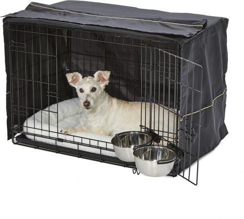 iCrate Dog Crate Starter Kit | 30-Inch Dog Crate Kit Ideal f