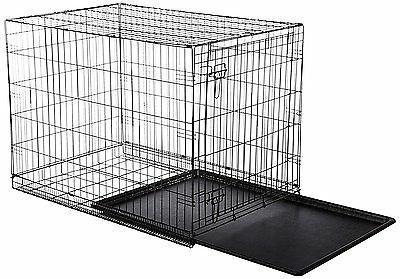 Indoor Cage Kennel Large Pet Single-Door Metal Portable