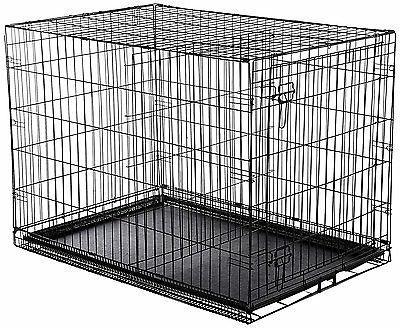 Indoor Crate Kennel Large Pet Single-Door Metal