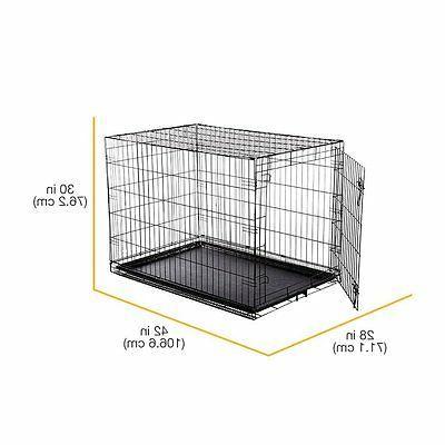 """Indoor Kennel Single-Door Metal Portable 42x28"""""""