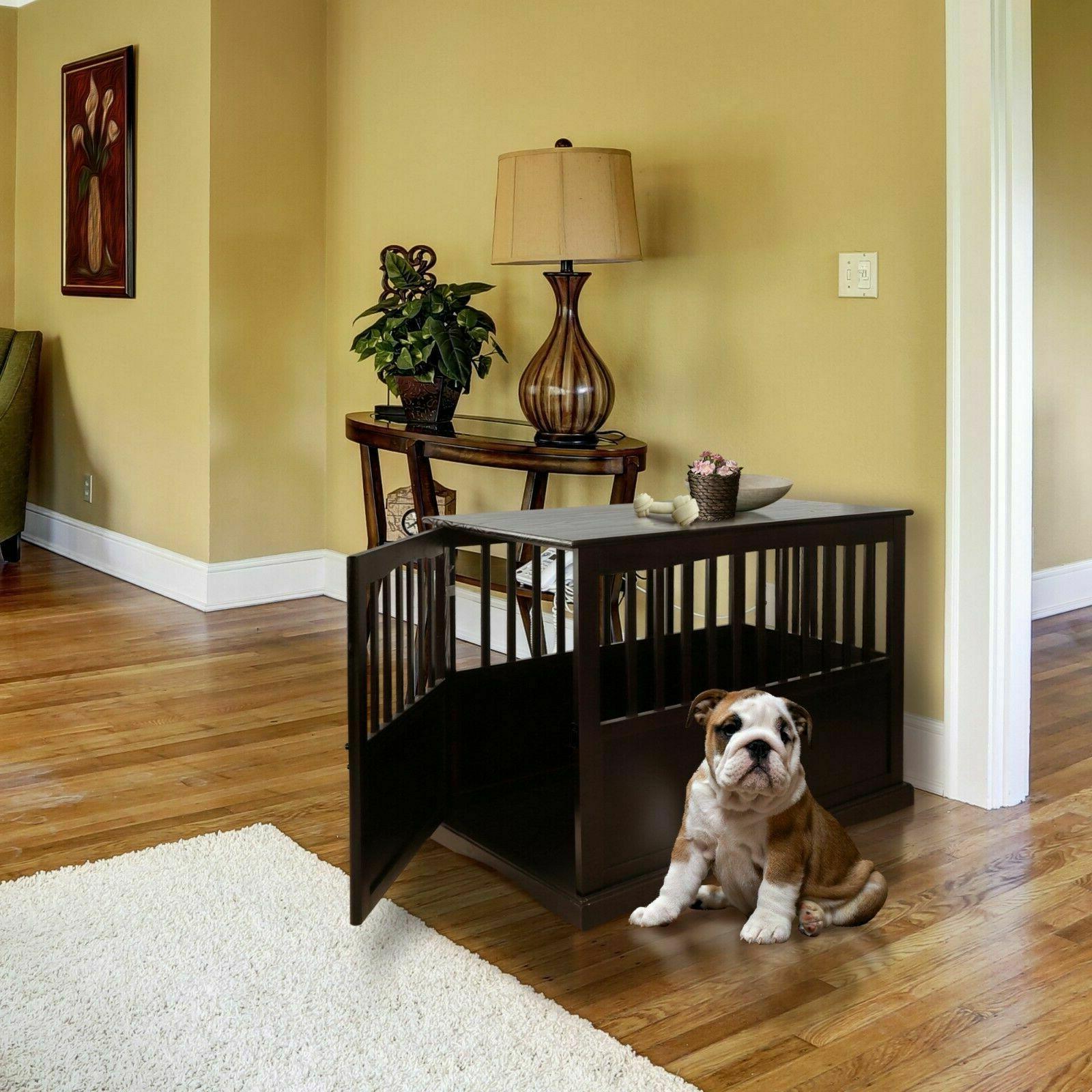 Indoor Crate End Big Cage Kennel Furniture