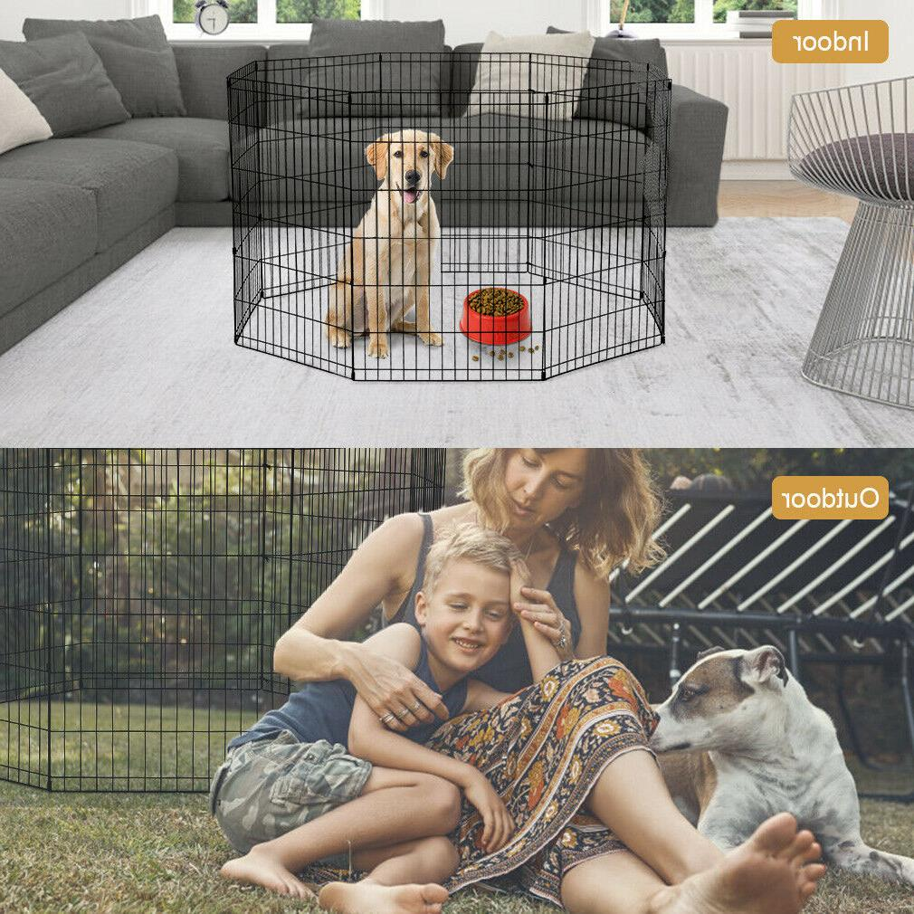 Large Wire Folding Pop-Up Cage Kennel Dogs summer