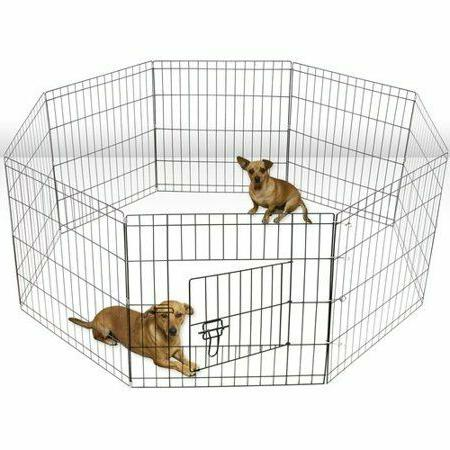 Large Wire Folding Pop-Up Cage Dogs - outdoor