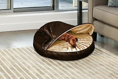 FurHaven Microvelvet Snuggery Dog Cave Bed Pet Bed