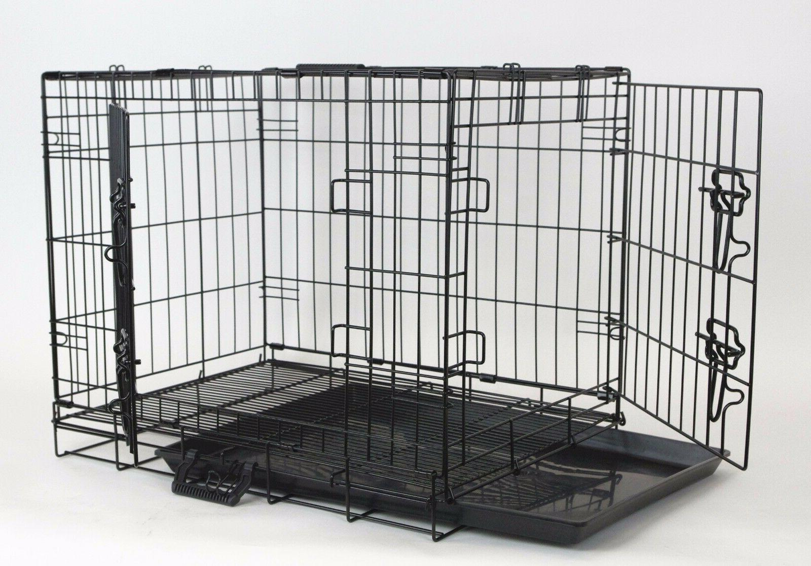 """New Homey Pet 18""""-48"""" Wire Folding Dog Cat Rabbit Cage Crate"""