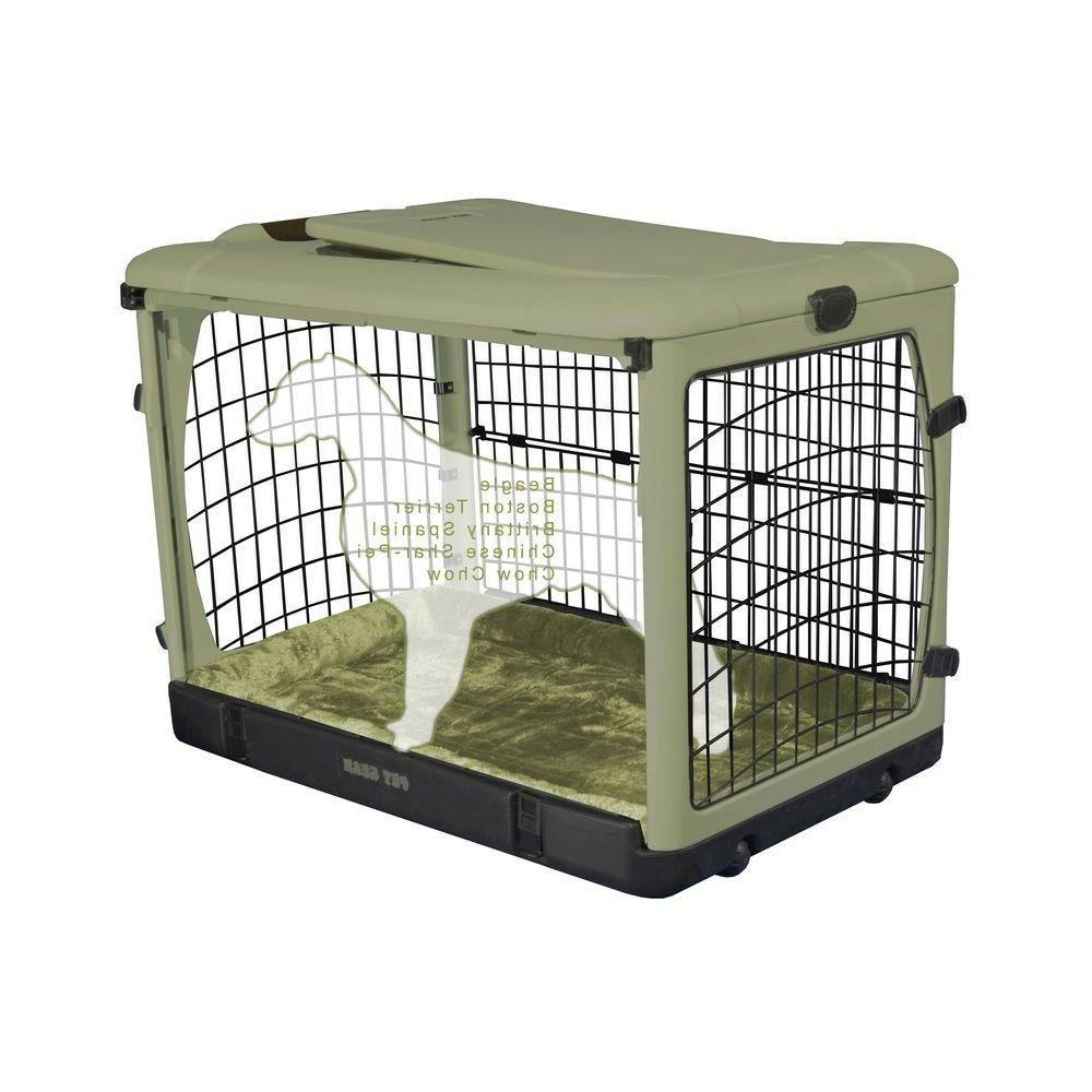 Pet Gear The Other Door Steel Crate With Plush Pad And Carry