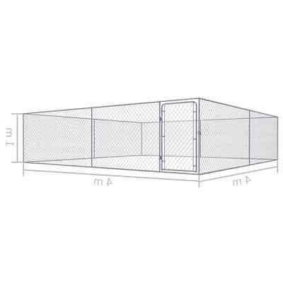 "vidaXL Outdoor Heavy Galvanized 157.5"" Square"