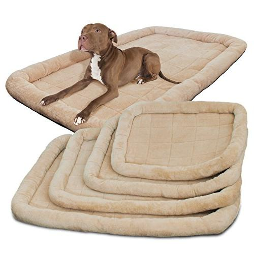 OxGord Bolster Crate Pad with Rim, XX-Large