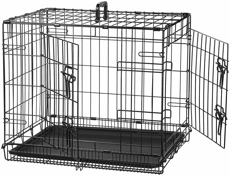 pet crate 24 double door folding metal