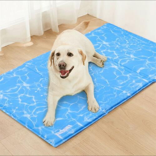 Pet Cooling Gel Mat Pad Kennels Crates Beds No Need Refrigerate