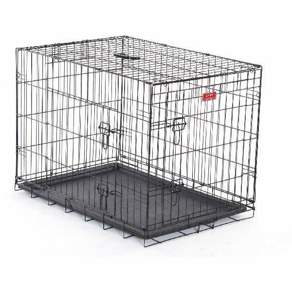"Pet Wired Crate 2-Door Dog Metal Cage S/L/XL/Giant 24""-48"" F"