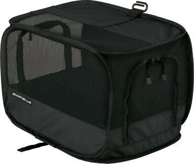 petravel crate black for small dogs was