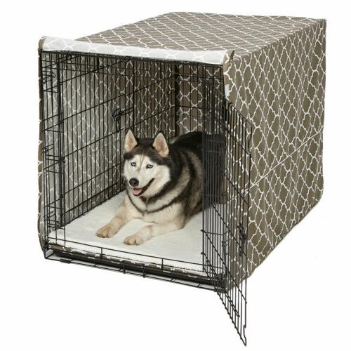 quiettime defender covella dog crate cover brown
