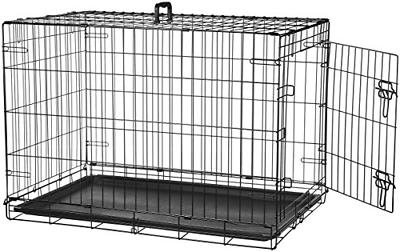 single door folding metal cage crate