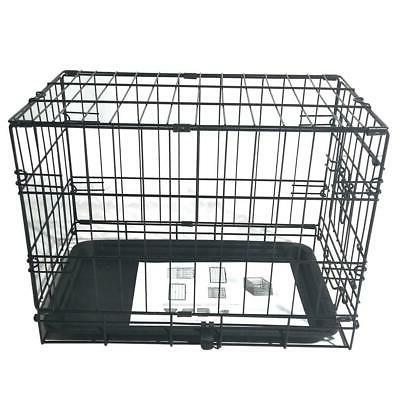 "20"" Pet Cat Crate Playpen Wire Metal Cage Tray"