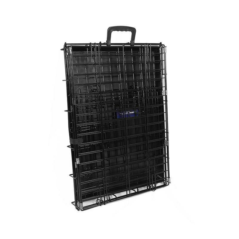 Small Metal Dog Cage Crate Foldable Portable 24.5×16.9×19 US