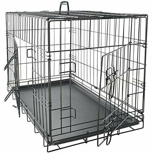 small 24 metal dog cage crate foldable