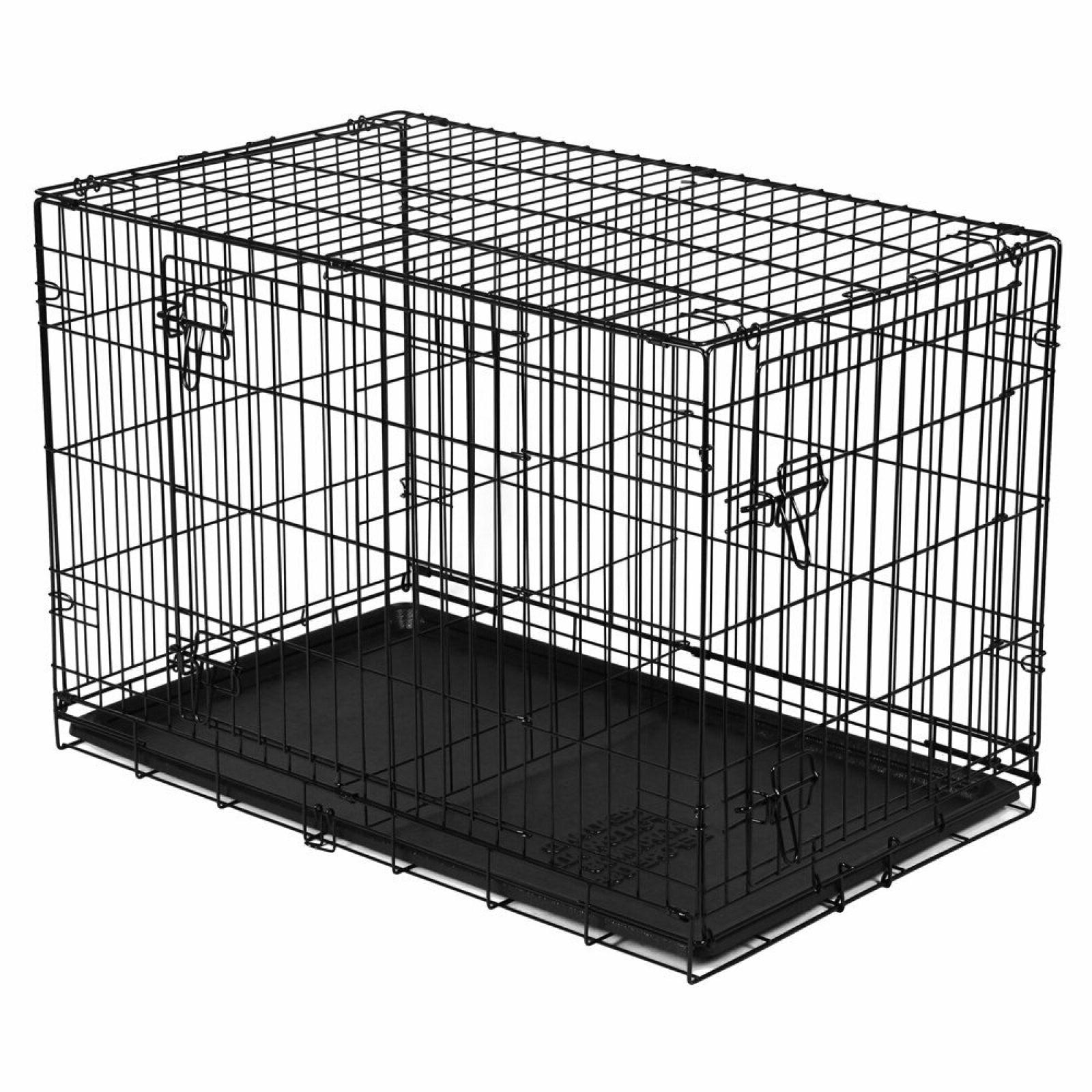 Vibrant Life Folding Dog Crate 42 Inch Double Door Training