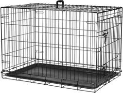 Huge Dog Crate Kennel 36 Inch Large Size Folding Pet Wire Ca