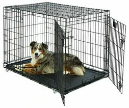 Large Dog Crate | MidWest Life Stages Double Door Folding Me