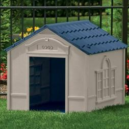 Large Dog Kennel Outdoor Pet House Bed Crate Box Shelter Ven