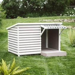 Large Outdoor Dog House Wood Frame All-Weather Crate Dogs Ga