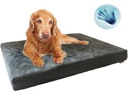 Dogbed4less Large Waterproof Orthopedic Memory foam Pet Bed