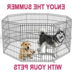 Large Wire Folding Pop-Up Cage Kennel 42'' for  Dogs - indoo