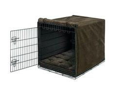 Bowsers Luxury Dog Crate Cover - Chocolate Bones - X-Large