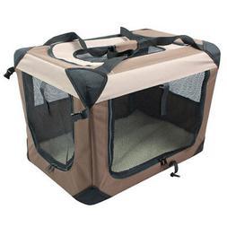 Multipurpose Pet Soft Crate with Fleece Mat, Large