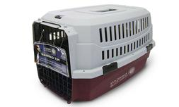 NEW American Kennel Club Travel Dog Pet Crate - red / Gray -