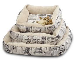 Newspaper Vintage Pet Bed Cushion Dog Cat Warm Mat Soft Pad