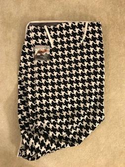 NWT Bowsers Pet Products Luxury Crate Cover Small Black Whit