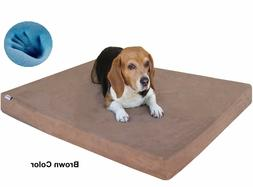 Dogbed4less Orthopedic Waterproof Memory Foam Pet Bed Large