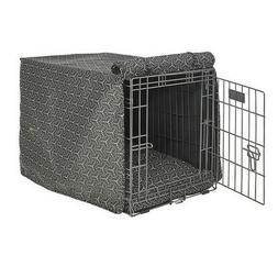 Bowsers Pet COSMIC GREY Micro Jacquard Luxury Dog Crate Cove
