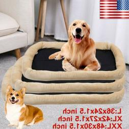 Pet Dog Cat Bed Cushion Mat Pad Kennel Crate Cozy Warm Soft