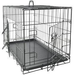 Pet Dog Cat Crate Kennel Cage & Bed Plastic Pad Pan Soft Coz
