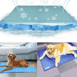 Pet Dog Self Cooling Gel Mat Pad for Kennels Crates and Beds