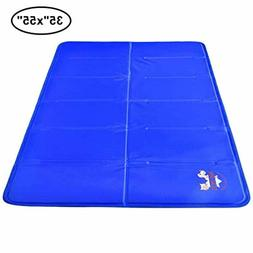 Pet Dog Self Cooling Mat Pad for Kennels, Crates and Beds 35