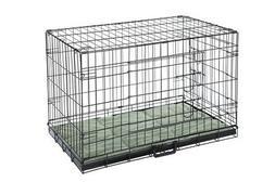 pet folding dog crate kennels 2 door