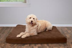 FurHaven Pet Bed Quilted Suede Deluxe Orthopedic Mat Dog Bed