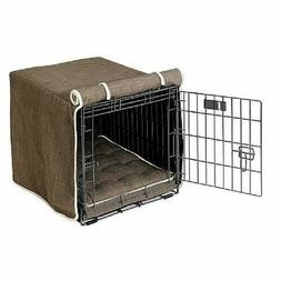 pet products driftwood microlinen luxury dog crate