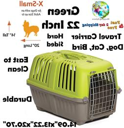 Pets Spree Travel Carrier Hard Sided Kennel Cage Dog Cat Bir