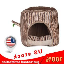 Portable Soft Indoor Small Dog House with Cushion Tree Shape