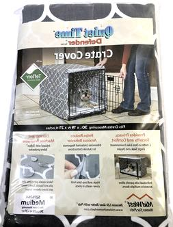Midwest Quiet Time Defender Series Stylish Gray Crate Cover