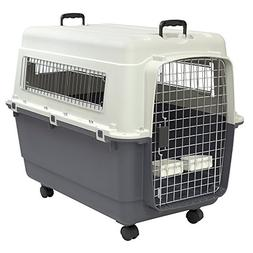 XL Rolling Travel Dog Crate Airline Approved Pet Carrier Doo